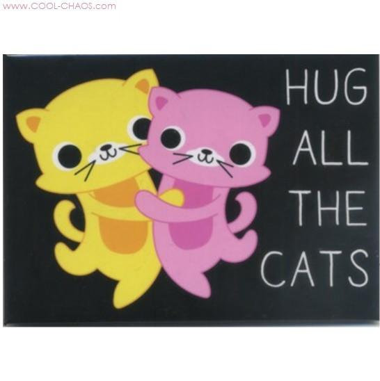 Hug the Cats Magnet - Cat Magnet