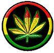 Rasta Marijuana Mini Button