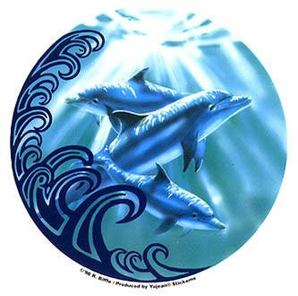 Tribal Dolphin Sticker