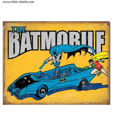 The Batmobile Sign / Marvel Comics, Bat-Man Tin Sign