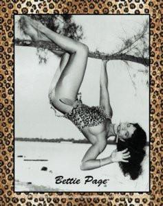 Retro Bettie Page Sticker