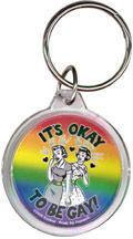 its ok to be a gay girl Keychain Retro!