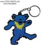 Dancing Bear Keychain/Rubber Grateful Dead Keychain
