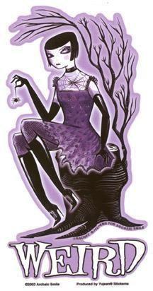 Goth Girl Weird Sticker