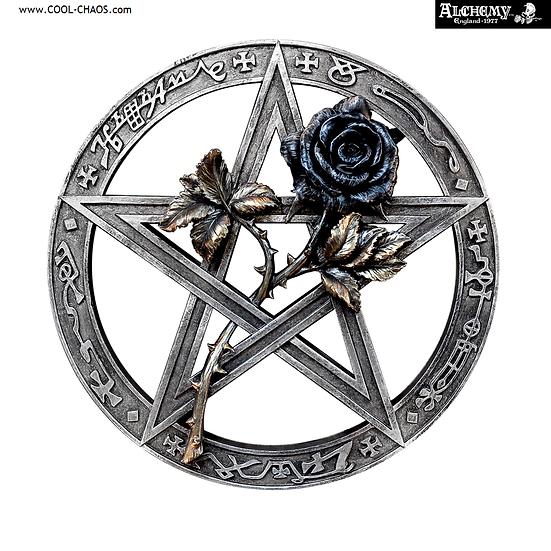 Black Rose Pentagram Wall Decoration