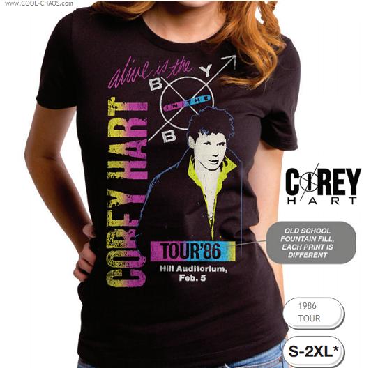 Corey Hart T-Shirt / Corey Hart Tour '86 Concert Tee 80's Rock Tee-Juniors