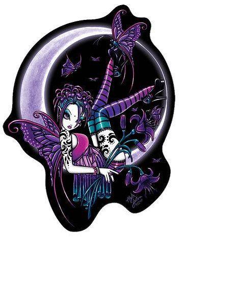 Paige Opal Butterfly Moon Fairy Sticker