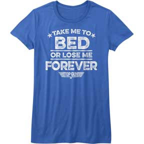 Funny Top Gun T-Shirt / 80's Movie 'Take me to bed' Juniors Tee