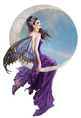 Amethyst Purple Butterfly Fairy Sticker