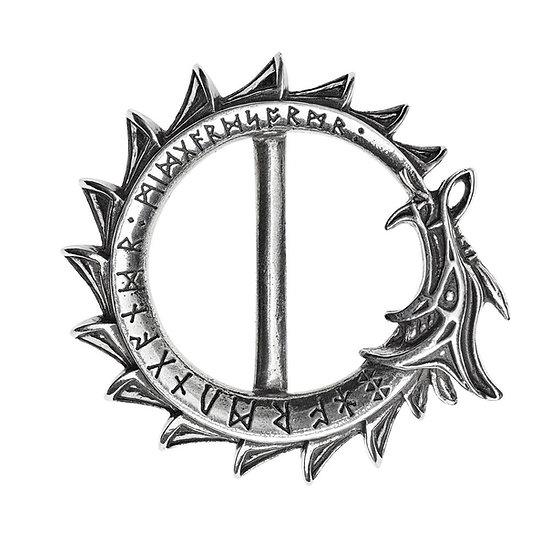 Pewter Ouroboros Serpent Belt Buckle