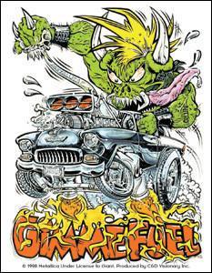 Gimme Fuel Hot Rod Metallica Sticker
