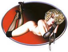 Pearls Pin-up Sticker by Olivia