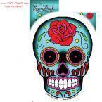 Tattoo Rose Sugar Skull Sticker