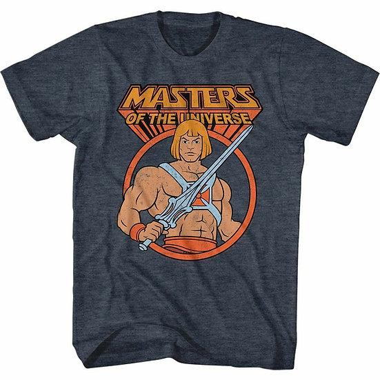 HE-MAN MASTERS OF THE UNIVERSE T-SHIRT / MOTU CARTON - NAVY