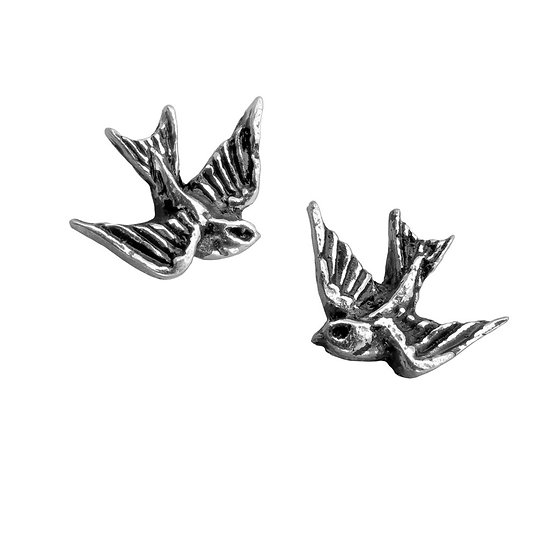 Pewter Swallow Earrings