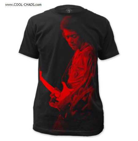 Jimi Hendrix T-Shirt /  Red-Hendrix Guitar Tribute Tee