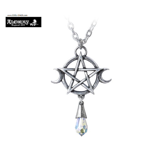 Five Elements Moon Goddess Pewter Necklace