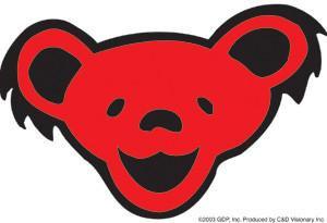 Red Smiling Bear Grateful Dead Sticker
