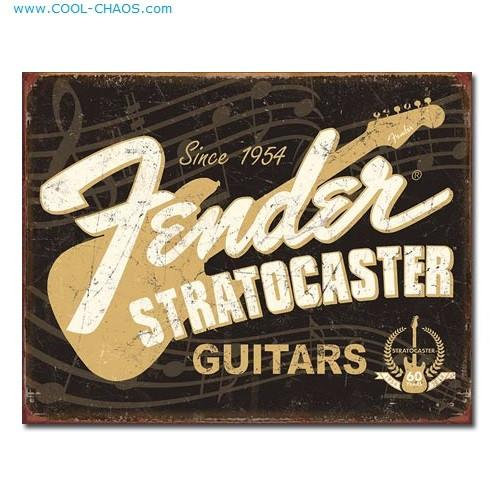 50th Anniversary Fender Guitars Stratocaster Sign