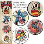 Marvel Comics 70th Anniversary Buttons Set