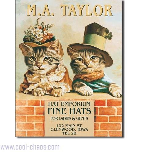 Victorian Cats Sign