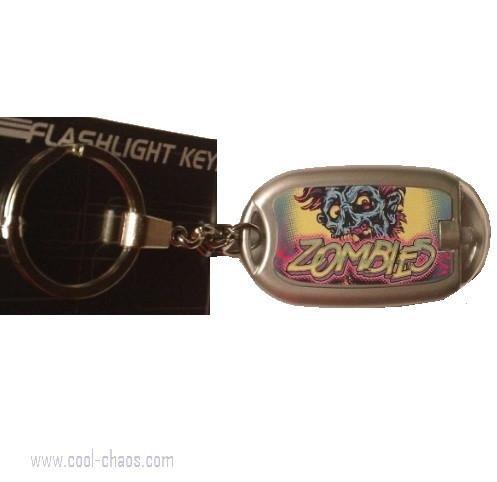 Screaming Zombie Flashlight Keychain