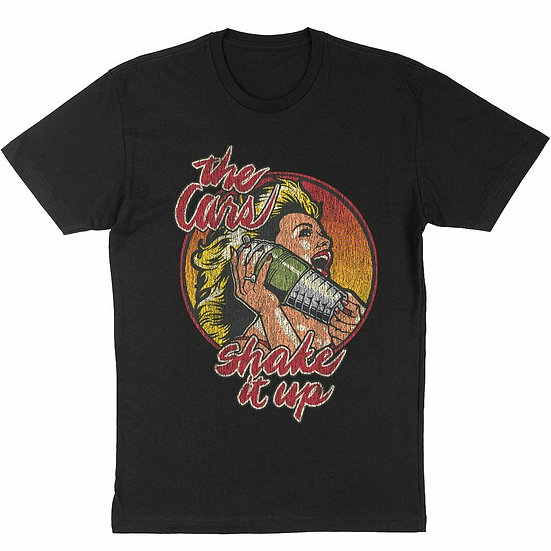 THE CARS T-SHIRT / THE CARS SHAKE IT UP ALBUM THROWBACK 70'S 80'S RETRO ROCK TEE