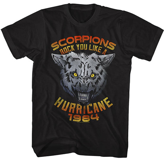 SCORPIONS T-SHIRT / 80'S METAL ROCK YOU LIKE A HURRICANE TEE