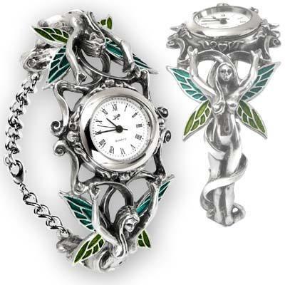 Ornate Pewter Artemesia Fairy Watch