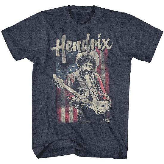 American Flag Jimi Hendrix T-Shirt / Hendrix Guitar Tee