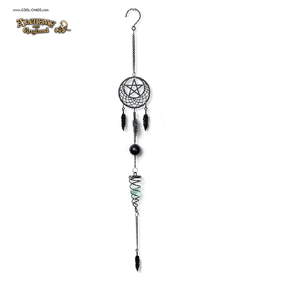 Mystic Pagan Moon Dreamcatcher Wind Chime by Alchemy Gothic, New 2019,Halloween