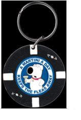 Family Guy Poker Chip Keychain Martini a Day