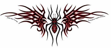 Tribal Spider Sticker
