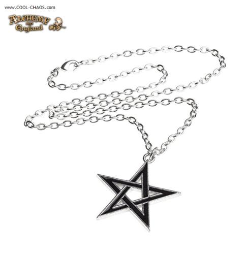 Pewter Pentagram Necklace / Demon Curse Necklace - Alchemy Gothic 1977