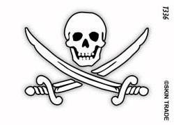 Jolly Roger Temporary Tattoo