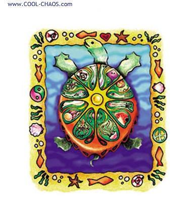 Sun Turtle Sticker