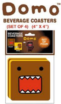 Domo-Kun Drink Coasters Set 4 Pack