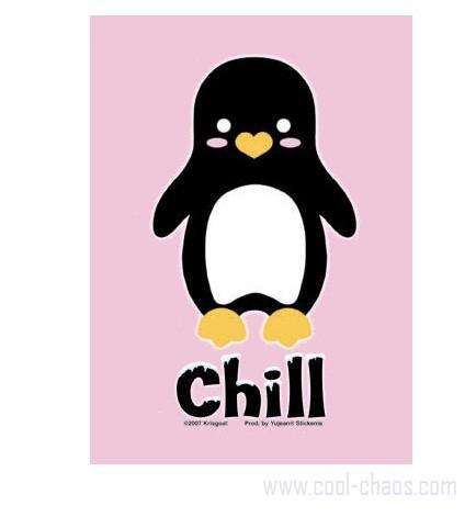 Chill Penguin Postcard