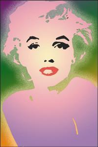 Pop Art Pastel Art Marilyn Monroe Magnet