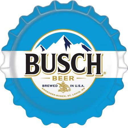 Busch Beer Bottle Cap Tin Sign