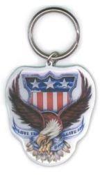 American Flag Eagle Keychain
