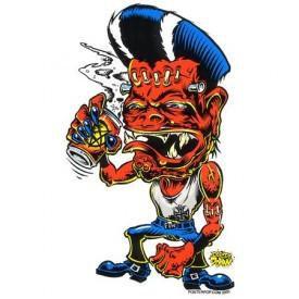 Hot Rod Art Drunk Monster Sticker