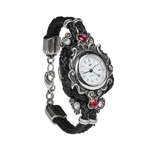 Affiance Promise Crystal Red Heart Bracelet Watch