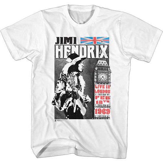 Jimi Hendrix T-Shirt / Hendrix Live in London 1969 Rock Tee