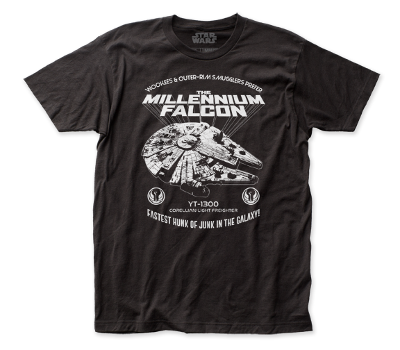 STAR WARS T-SHIRT / 70S STAR WARS Millennium Falcon THROWBACK TEE