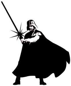 Darth Vader Fighting Rub-on Star Wars Sticker