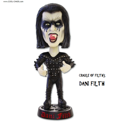 Cradle of Filth Bobblehead / 7 inch Danny Filth Rock Collectible Bobblehead