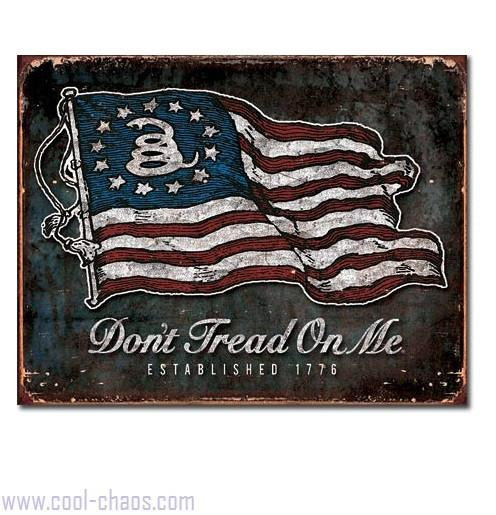 Est.1776 Don't Tread on Me US Flag Sign