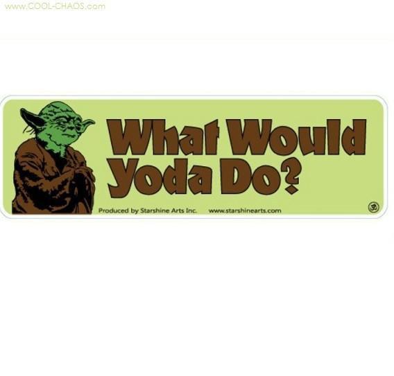 Mini Yoda Bumper Sticker