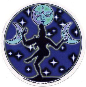 Moon Dancer Moon Sticker